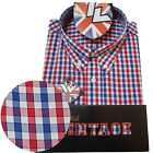 Warrior UK England Button Down Shirt FAWKES Slim-Fit Skinhead Mod Retro