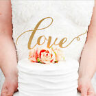 Lot LOVE Cake Topper Sparkle Glitter Gold Wedding Decorating Engagement Party