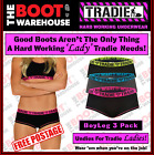 TRADIE LADY UNDERWEAR  -  COTTON 'BOYLEG' BRIGHTS  -  3 PACK  -  FREE DELIVERY!