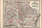 Poster, Many Sizes; Map Of Georgia, Alabama, And Florida ...