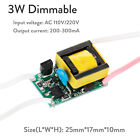Dimmable LED Chip Driver 3W 4W 5W 7W Power Supply 300 mA For LED Lights 110V 12V