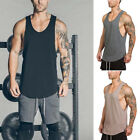 Men Summer Sleeveless Cotton Shirt Tank Top Tee Gym Singlet Fitness Sport Vest