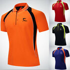 Mens Polo Shirt Hiking T-Shirt Casual Short Sleeve Outdoor Sport Golf Tee Tops