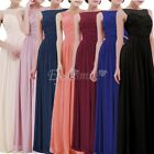 Elegant Party Dress Bridesmaid Formal Evening Gown Chiffon Long Prom Maxi Gown