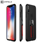 CAFELE Hard Plastic Phone Case Cover with Knit Ring Phone Holder for iPhone X