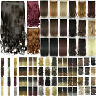 blonde to strawberry blonde hair - Wavy/Curly/Straight Clip In Hair Extension Full Head One Piece Clips Hairpieces