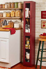 Kitchen Storage Committee Country Rustic Slim Tall Shelves Pantry Red or Black