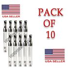 5/10-Pack Silver 1ml Oil Cartridge Dual Coil Glass Tank Extract - In stock USA