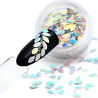 12 Colors Nail Art Oval Horse Eye Laser Glitter Decoration Sequins Accessories