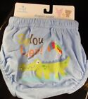 "Small Wonders Infant Boys' Diaper Cover ""See you later "" Blue 6-12 Months, 1 Ct"
