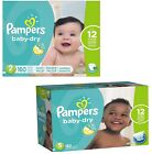 PAMPERS Baby Dry Diapers Size Newborn, 1, 2, 3, 4, 5, 6 - CHOOSE SIZE & COUNT