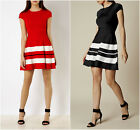 New KAREN MILLEN Stripe BNWT £160 Evening Bodycon Bandage Club Party Knit Dress