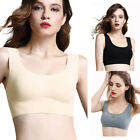 Women Seamless Racerback Sports Bra Yoga Fitness Padded Stretch Workout Top Tank