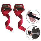 2X Padded Weight Lifting Straps Training Gym Gloves Hand Bar Wrist Wraps Support