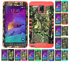For Samsung Galaxy Note 4 KoolKase Hybrid Silicone Cover Case CAMO MOSSY 72