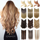 """Hidden Secret Invisible Wire In Natural Hair Extensions Long 20/24"""" AS Human F5i"""