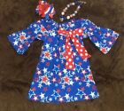 Внешний вид - New 4th of July Dress  Size 2T-7T ADD ON MATCHING BOW & NECKLACE
