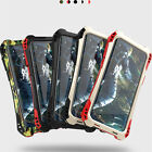 For iPhone X 8 7 6 5S Shockproof Waterproof Armor Metal Silicone Back Case Cover