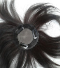 """4""""x4"""" 100% human hair full hand tied topper round hairpiece top piece wiglet 6"""""""