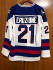 1980 Miracle On Ice Team USA Mike Eruzione 21 Hockey Jersey All stitched