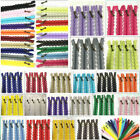 20-50cm Lace Closed End Zippers 3 Nylon For Purse Bags Multicolor Sewing 5/10pcs