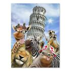 Leaning Tower Pisa Italy Selfie Giraffe Home Business Office Sign