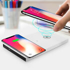 Dual Qi Wireless Charger Dock Charging Pad Stand Station For Iphone X Samsung S8