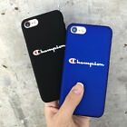 Fashion Champion Pattern Letter Hard Plastic Phone Case For iphone X 6 7 8 plus