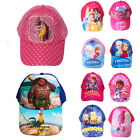 Trolls Moana Princess Sofia Girls Baseball Kids Cartoon Sun Swim Caps Beach Hats image