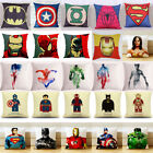 spiderman pillow - Superhero Avengers Marvel DC Star Wars Cushion Cover Throw Kid Pillow Case Decor