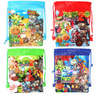 Plants vs Zombies Kids Drawstring Backpack Beach Bag Swim Party Gifts Goody Bag