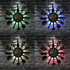 Kitchen Knife Fork Spoon Led Light Cooking Handmade Wall Clock Vintage Home Deco