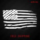 Distressed Tattered American Flag Vinyl Decal Sticker | Ripped Torn USA 641