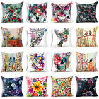 Watercolor Cow Art Polyester Throw Pillow Case Sofa Waist Cushion Cover Home Dec image
