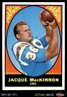 1967 Topps #124 Jacque MacKinnon Chargers NM $12.5 USD on eBay