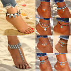 Boho Crystal Barefoot Sandal Beach Anklet Foot Chain Jewelry Ankle Bracelet