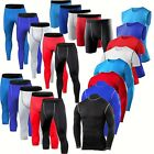 Mens Compression Shorts Pants Shirts Vest Base Layers Gym Clothes Running Tights
