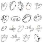 Fashion 925 Sterling Charm Band Open Knuckle Rings Women Party Gift Jewelry