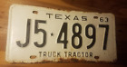1963 63 Texas License Plate Vintage Antique Classic chevy ford Decor