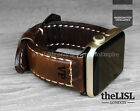 Dark Brown Leather Apple Watch Band Strap for 38mm 42mm iWatch Series 1 2 3