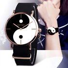 Fashion Women Casual Canvas Band Eight Diagram Analog Quartz Wrist Watch Watches image