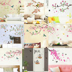 Flower Bird Art Removable Wall Stickers Vinyl Decal Home Roo