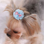 1PC Teddy Yorkie Dog Pet Hairpin Organzas Bubble Hair Clips Accessories Gifts