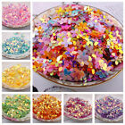 Внешний вид - 100Pcs Flower Shaped Loose Shimmer Sequins Paillette DIY Cloth Sewing 10mm