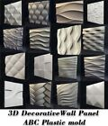 Molds For 3D Tile Panels ABS Plastic Form Mold Plaster Wall Stone Wall Art Decor image