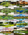 Green Golf Course Painting Relax Time Poster Wall Art Home Decor 5p Canvas Print
