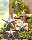 Metal Garden Stakes Yard Decorations Outdoor Wall Art Star 5 PC Rustic Galvanize