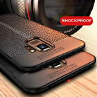 For Samsung Galaxy S4 S5 S6 S7 S8 S9 S10 Shockproof Soft TPU Leather Case Cover