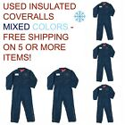 Used Coveralls Insulated Cintas, Redkap, Unifirst, G&K MIXED COLORS