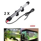 2Pcs Aquarium Heater Submersible Utility Heating Rod for Warm Fish Tank Aquarium